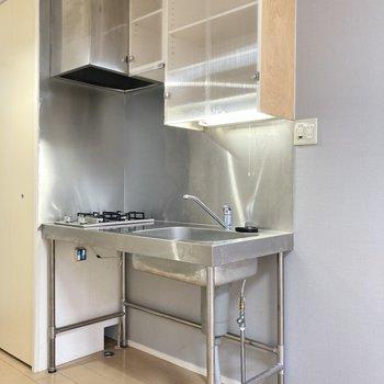 オープンなキッチンです。