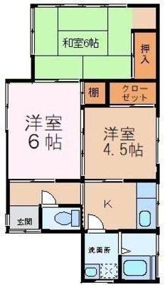 渋谷貸家の間取り
