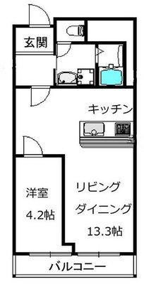 堂島アーバンライフの間取り図