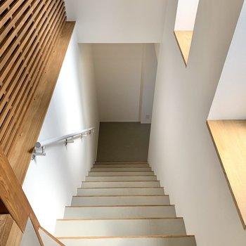 【階段】下りも手すりがあって安心です!