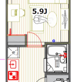 キッチンと居室は別になっています。※一部仕様が異なります