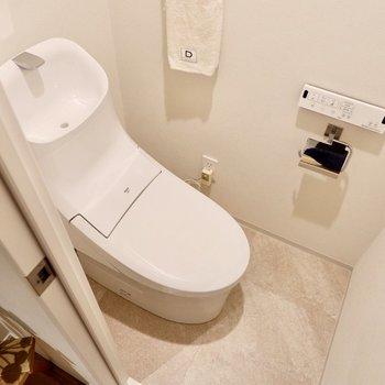 お手洗いは温水洗浄便座が嬉しい。