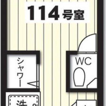 玄関が2箇所あるワンルーム。