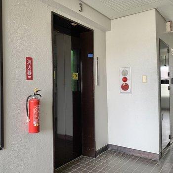 お部屋隣にエレベーターがありますよ。