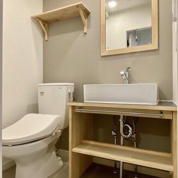トイレと脱衣所は同室にあります。