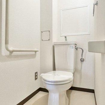 トイレにはカバーを付けて快適な空間にアレンジを。