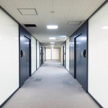 【共用部】ゆったりとした廊下は交流を生みます