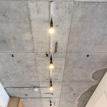 天井のコンクリ×ライティングレールもたまりません…◎