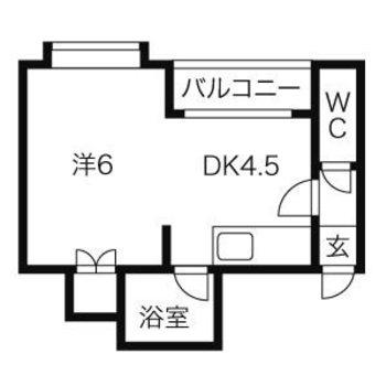 ワンルームのお部屋ですが、仕切って1DKとしてもお使いいただけます!