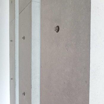 コンクリートの質感って、やっぱり素敵。(※写真は4階の同間取り別部屋のものです)