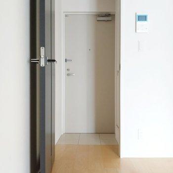 玄関前には扉があります。(※写真は4階の同間取り別部屋のものです)