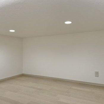 天井照明はダウンライトですっきり。コンセントもあります!