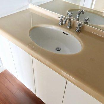 洗面台は外国風。ちょっぴりレトロなのがまた素敵。