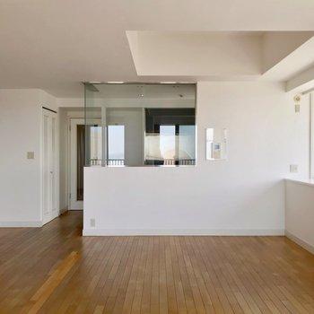 21帖の広さがあるので、家具のレイアウトの自由度も高いです。