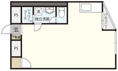 チサンマンション広島の間取り