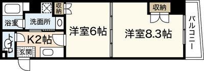ヴァンサンク堺町の間取り