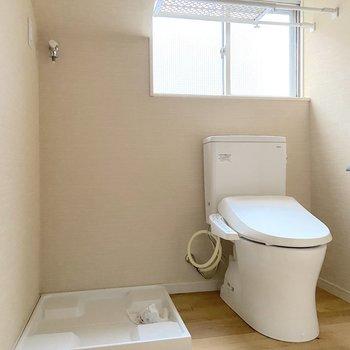 トイレや洗濯機置き場も同室になります。