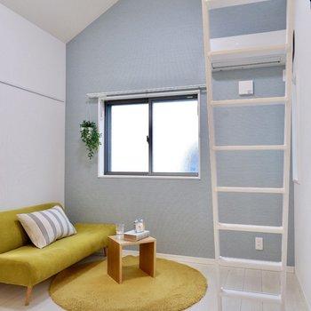 独特な下り天井が、お部屋の個性になっていますね。