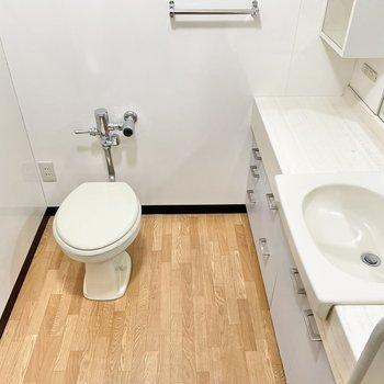 トイレもここに。周りがゆったりしているのが嬉しいですね。