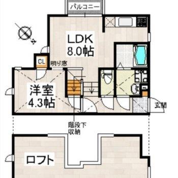 3層構造で2人暮らしにもぴったりです!