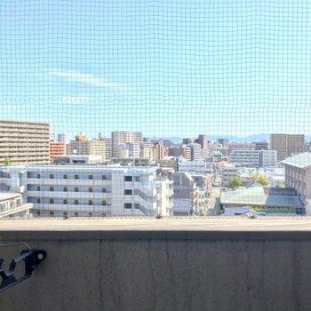 9階なので空が広いですね。