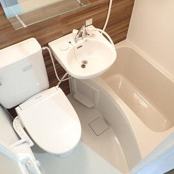 3点ユニットバス!トイレはウォシュレットつきです!