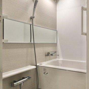 シャワーの形に惚れ惚れ……。