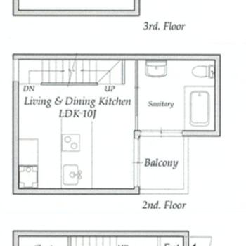 3階建のメゾネットです。