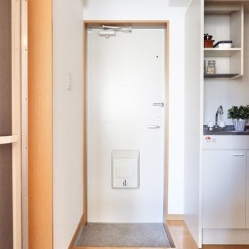 シンプルな玄関。