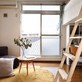 天井高に合わせた背の高い窓がいい感じ。