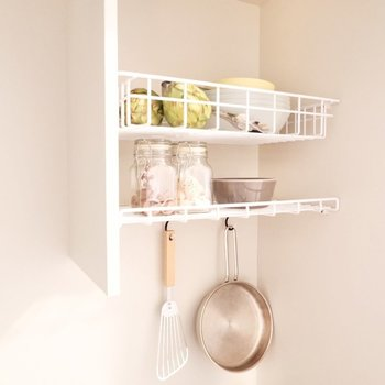 こちらで食器を乾かしたりできるようです。