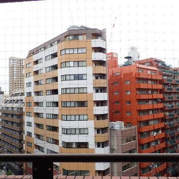 一度見たら忘れられない建物が見えます。