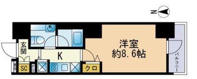 セレニティコート渋谷神泉の間取り