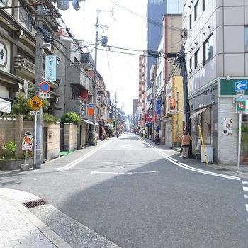 【周辺環境】こちらは駅前の、四天王寺そばの商店街。気になる飲食店をいくつか発見!