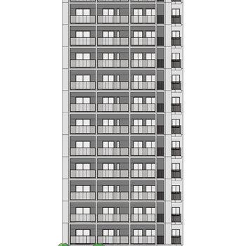 【外観イメージ】13階建ての新築マンションです