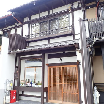 長屋の真ん中!京都っぽいなあ。
