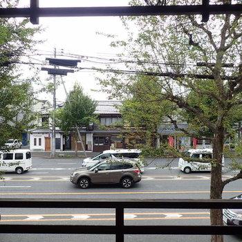大通り沿いですが、街路樹があってほどよい距離感。