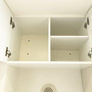 洗剤などは上に入れられます※写真は3階の同間取り別部屋のものです