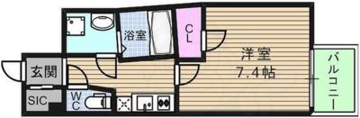 ジェーピーレジデンス大阪上町台の間取り