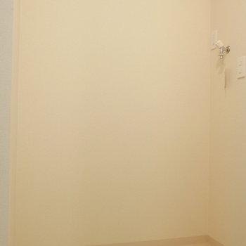 玄関横に、洗濯機置場です。(※写真は別棟2階の同間取り別部屋のものです)