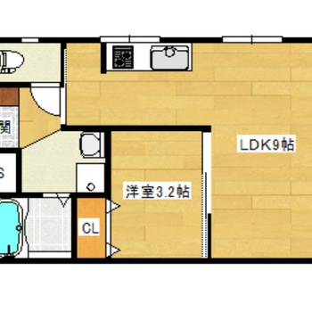 1人暮らしにほどよい1LDKのお部屋です。
