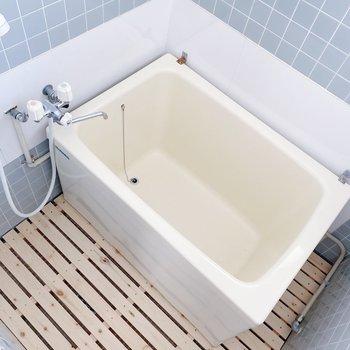 お風呂はコンパクト。シャワーでササッと済ませても◯