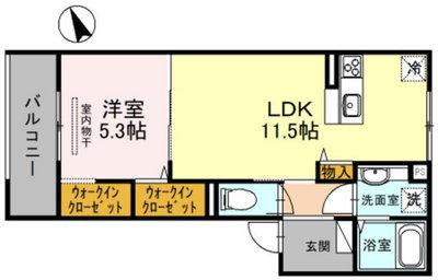 (仮)D-room中須1丁目の間取り