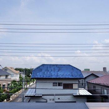 眺望は青空の広がる気持ち良い眺め。