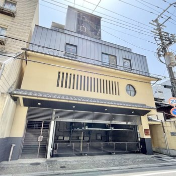 日本家屋のデザインも取り入れられた、京都らしい外観!