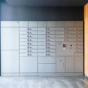 宅配ボックス付きで、忙しい時でも焦らず郵便物を受けて取れますよ。