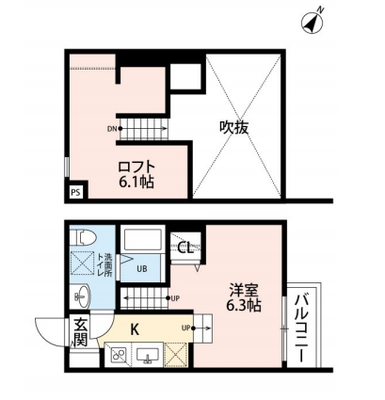 Hiroyu-Fukuoka Ⅰ(ヒロユーフクオカ ワン)の間取り