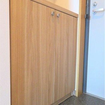 玄関にはシューズボックスもありますよ