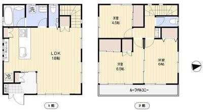 渋谷区恵比寿3丁目戸建の間取り
