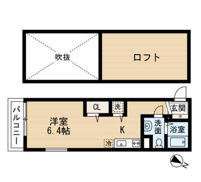 """34-倶楽部ハウス""""R""""(34倶楽部ハウスアール)の間取り"""
